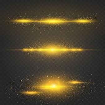 Effet brillant de noël doré cosmique