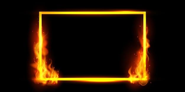 Effet brûlant des étincelles rouges chaudes flammes de feu réalistes