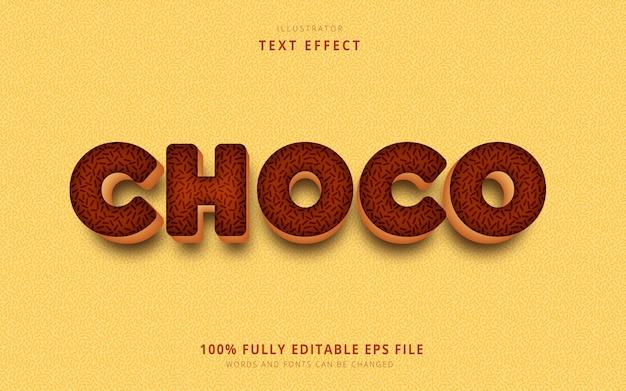 Effet choco text