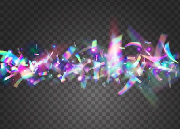 Effet de chute. décoration colorée rétro. paillettes de métal violet. feuille webpunk. paillettes irisées. texture légère. éclat brillant. cristal art. effet de chute violet