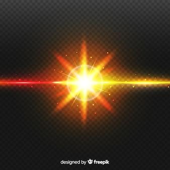 Effet de collision réaliste à deux lumières