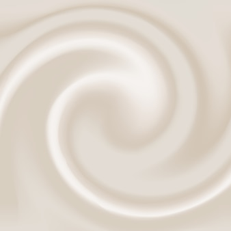 Effet crème réaliste. tourbillon crémeux de fond de texture de lait.