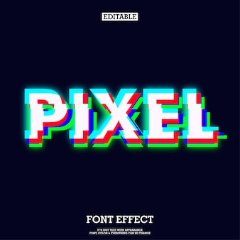 Effet d'écran vert rouge bleu pixel