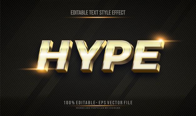 Effet d'effet de style de texte modifiable avec un thème de couleur or brillant