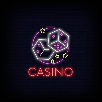 Effet d'enseigne de signe de casino en ligne