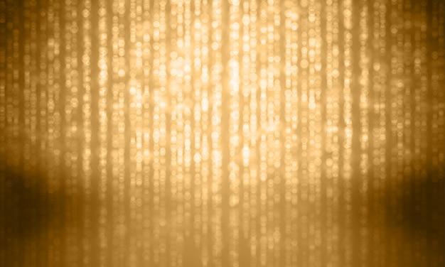 Effet étincelant de paillettes d'or sur fond brillant