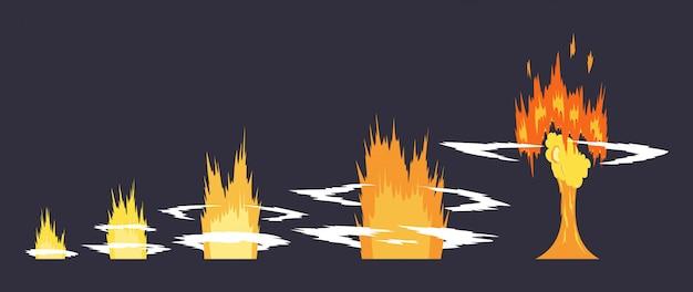 Effet d'explosion de dessin animé avec de la fumée