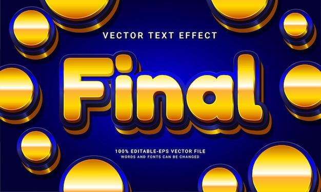 Effet final de style de texte modifiable en 3d