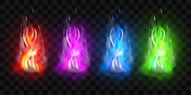 Effet de flamme de feu de joie brûlant