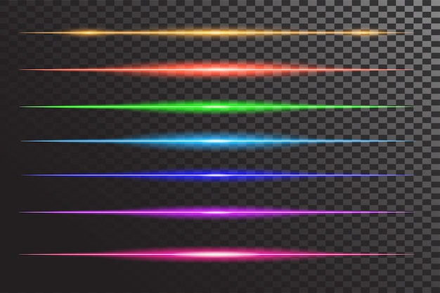 Effet flash ligne brillante horizontale