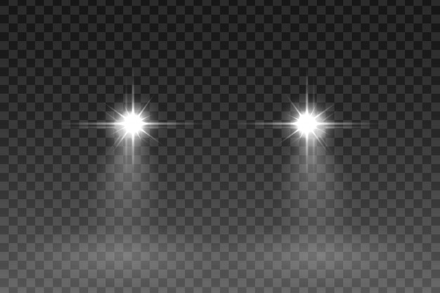 Effet de flash de voiture sur fond transparent. illustration vectorielle