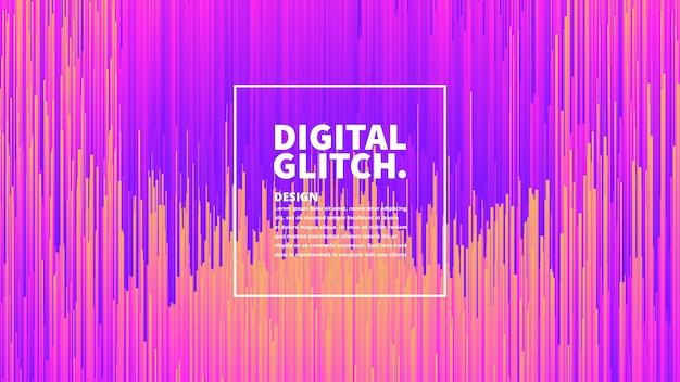 Effet glitch numérique abstrait