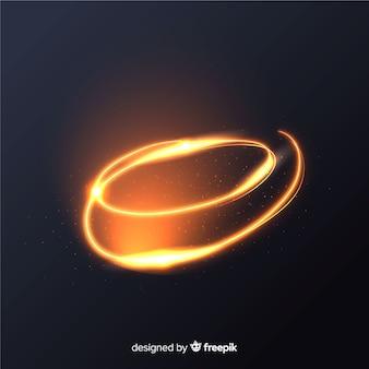Effet de lignes spirales brillantes dorées