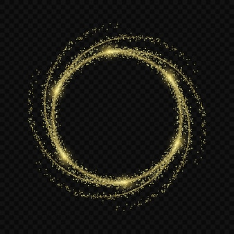Effet de lueur de lumière magique étoiles éclate avec des étincelles isolé sur fond transparent. trace de lumière