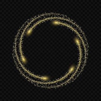 Effet de lueur de lumière magique étoiles éclate