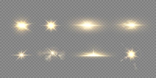Effet de lumière abstraite lumière du soleil transparent spécial lens flare.
