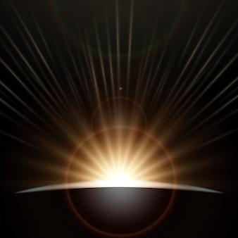 Effet de lumière au lever du soleil