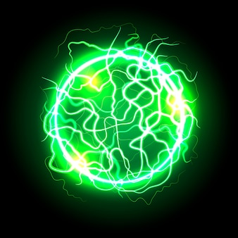 Effet de lumière balle électrique vert