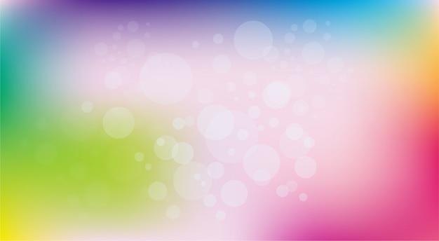 Effet de lumière bokeh brillant abstrait fond multicolore