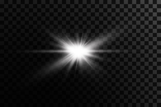 Effet de lumière bright star light explose