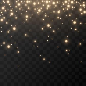 Effet de lumière brillante lumière dorée lumière du ciel lumières brillance dorée scintille image png fond de noël noël