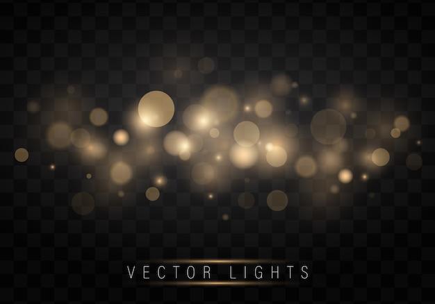 Effet de lumière brillante. star éclaté avec des étincelles.