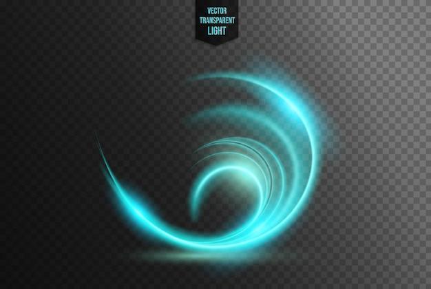 Effet de lumière circulaire abstrait
