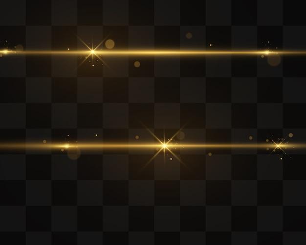 Effet de lumière dorée élégant