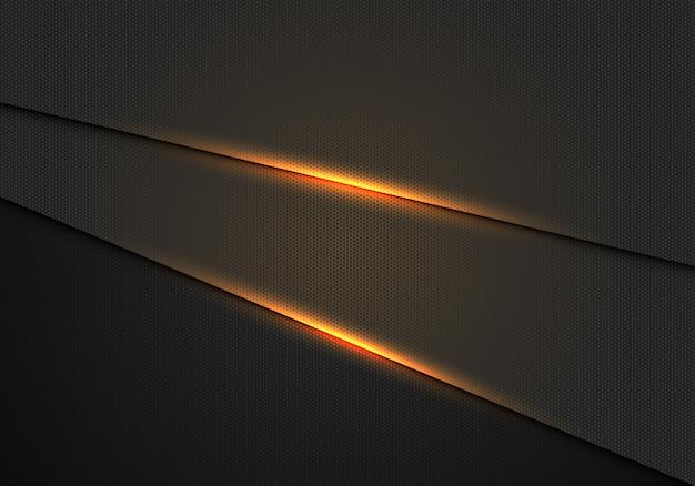 Effet de lumière dorée sur fond métallique foncé