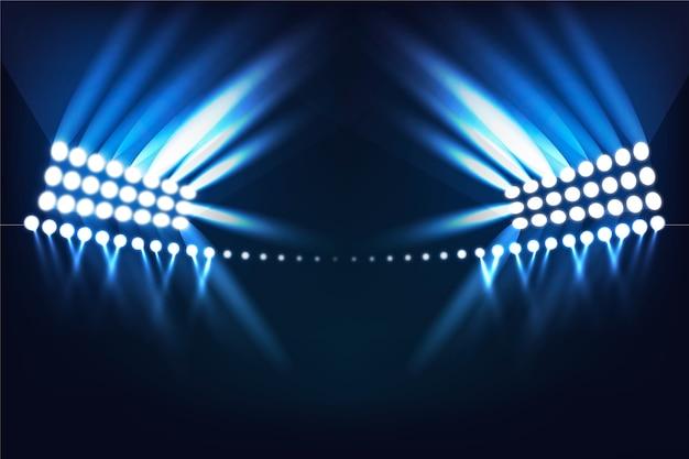 Effet de lumière du stade rougeoyant