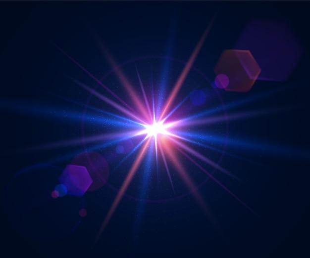Effet de lumière éblouissante