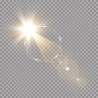 Effet de lumière éclatante. concept de flash lumineux.