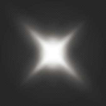 Effet de lumière éclatante. l'étoile a éclaté d'étincelles. paillettes dégradées de brillance transparente, reflets brillants. texture d'éblouissement.
