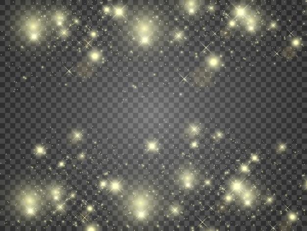 Effet de lumière éclatante. l'étoile a éclaté d'étincelles.