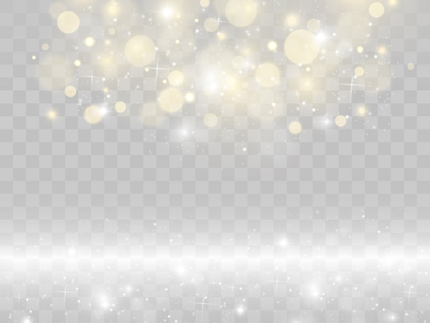 Effet de lumière éclatante star burst avec des paillettes