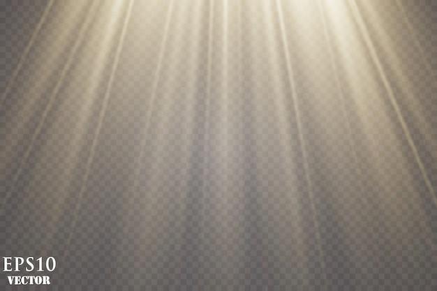 Effet de lumière éclatante. starburst. rayons de soleil lumineux.