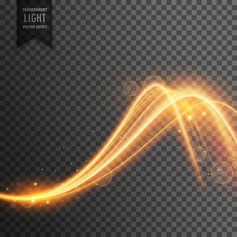 Effet de lumière élégant dans le style d'onde