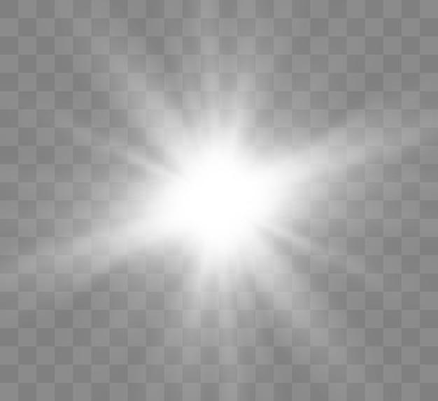 Effet de lumière, étoile, soleil.