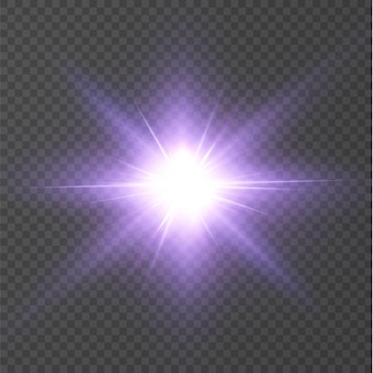 Effet de lumière flare de lentille spéciale lumière rose soleil transparent abstrait.