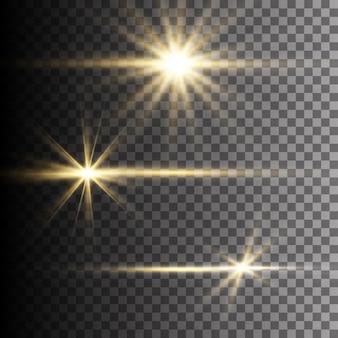 Effet de lumière flash lentille spéciale lumière du soleil transparent.