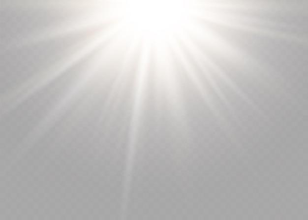 Effet de lumière flash de lentille spéciale de la lumière du soleil transparente de vecteur. flash de lentille de soleil avant. flou vectoriel à la lumière de l'éclat. élément de décor.