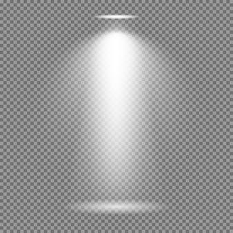Effet de lumière sur fond transparent. lumières lumineuses collection de vecteur