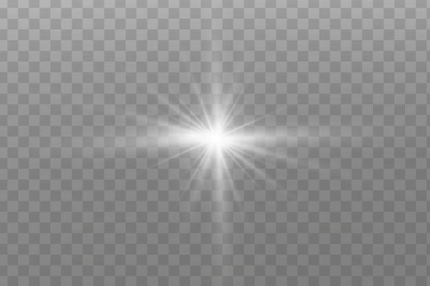 Effet de lumière sur fond transparent