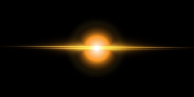 Effet de lumière futuriste