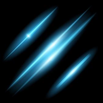 Effet de lumière glow étoiles éclate avec des étincelles.