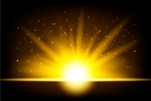 Effet de lumière de lever de soleil étincelant