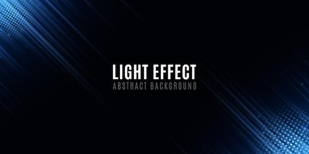 Effet de lumière de lignes néon aléatoires abstraites bleues. modèle pour votre conception. effet de flou de mouvement. lignes de néon floue futuriste sur fond noir.