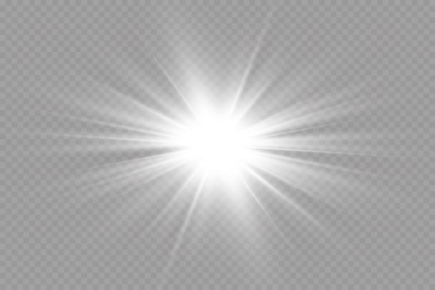 Effet de lumière lueur. illustration. flash de noël. poussière chute de neige. décoration.