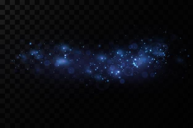Effet de lumière lueur illustration vectorielle poussière de flash de noël