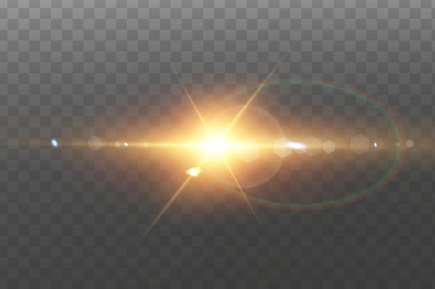 Effet de lumière de lumière parasite spécial lumière du soleil transparent